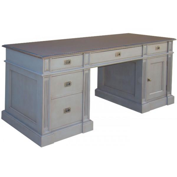 bureau ministre quercy 1 porte 5 tiroirs 2 tons. Black Bedroom Furniture Sets. Home Design Ideas