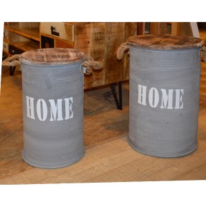 Set de 2 pots fer et sapin - Iron Home - Casita