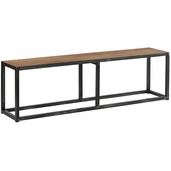banc bois recycl et m tal woodstock casita. Black Bedroom Furniture Sets. Home Design Ideas
