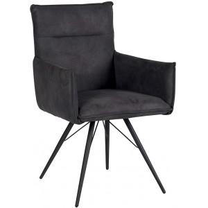 Chaise avec accoudoirs de couleur grise