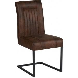 Chaise recouvrement polyester havane - Casita