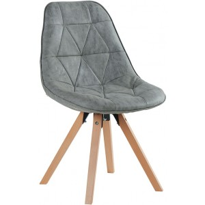 Chaise contemporaine gris clair - Chayate Casita