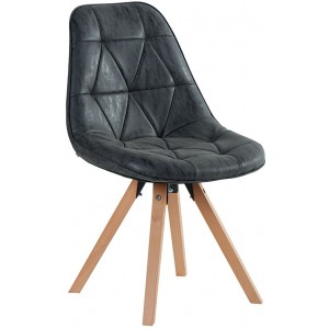 Chaise contemporaine teinte noire - Chayate Casita