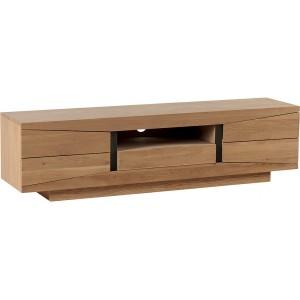 Meuble TV chêne 2 portes 1 tiroir 1 niche - Dark Casita
