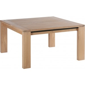 Table carrée et son allonge de 45cm - Cuneo Casita