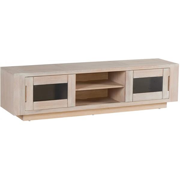 meuble tv 2 portes vitr es 2 niches manufacture casita. Black Bedroom Furniture Sets. Home Design Ideas