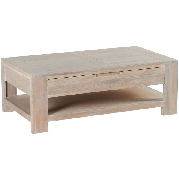 table basse double plateau 1 tiroir manufacture casita. Black Bedroom Furniture Sets. Home Design Ideas