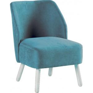 Fauteuil tissu bleu - Somero