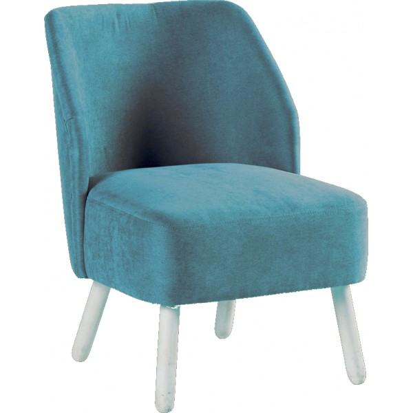 Fauteuil Tissu Bleu Somero Sofacasa - Fauteuil tissu bleu
