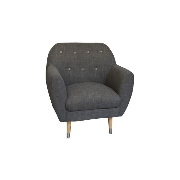 fauteuil anthracite d tail gris grimsby sofacasa. Black Bedroom Furniture Sets. Home Design Ideas