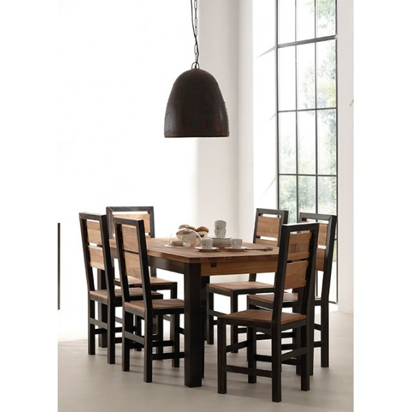 table salle manger carr e scott casita. Black Bedroom Furniture Sets. Home Design Ideas