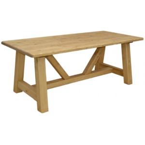 Table de montagne rectangulaire pin massif - Esprit chalet