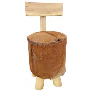 Tabouret les meubles du chalet - Pouf avec dossier ...