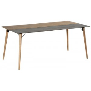 Table rectangulaire en 1m80 sapin et métal - Fusion Casita
