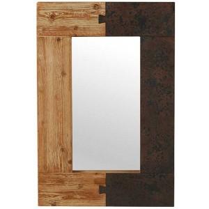 Miroir 90 x 60 cm sapin massif - Fusion Casita