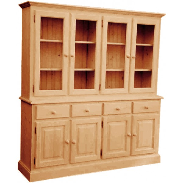 biblioth que 4 portes pin massif val d 39 is re. Black Bedroom Furniture Sets. Home Design Ideas