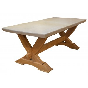 Table chêne bicolore avec allonge papillon - Prisma Zagas