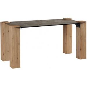 Table rectangulaire 160 sapin et métal - Acty Casita