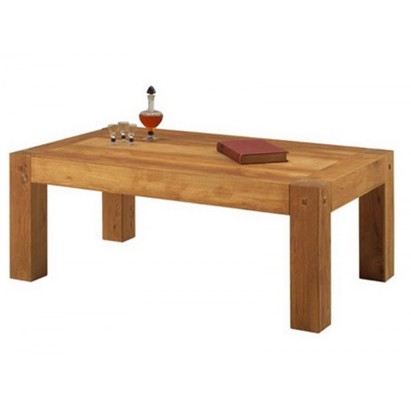 Table basse rectangulaire lodge casita - Table de salon rectangulaire ...