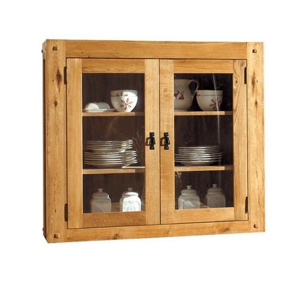 vaisselier 2 portes vitrees lodge casita. Black Bedroom Furniture Sets. Home Design Ideas