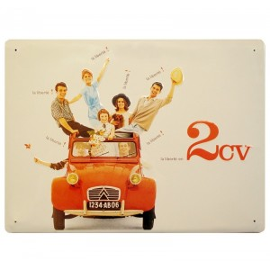 PLAQUE METAL15X21 CM 2CV Editions CLOUET