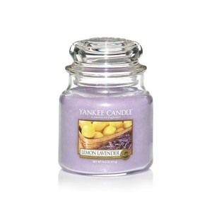 MOYENNE  JARRE LEMON LAVENDER (lavande citron) YANKEE CANDLE