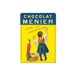 PLAQUE METAL CHOCOLAT MENIER 30 X 40