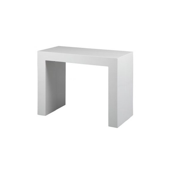 Console transformable table blanc for Console transformable en table