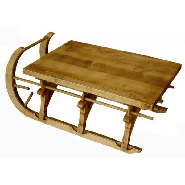 Luge En Bois Table Basse : Accueil > MEUBLES > TABLES BASSES > TABLE BASSE LUGE PETIT MODELE