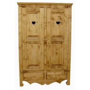 Armoire 2 portes 2 tiroirs - Cœur de Montagne