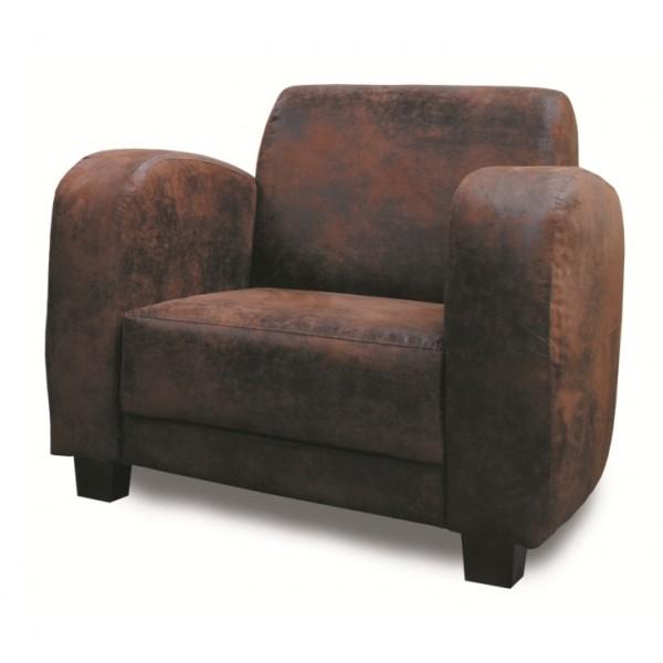 fauteuil microfibre vieux cuir