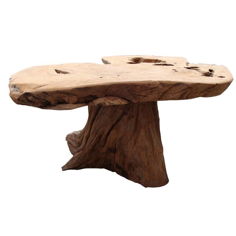 table basse pied central farmer ranch casita. Black Bedroom Furniture Sets. Home Design Ideas