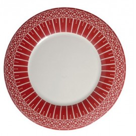LOT DE 6 ASSIETTES ROUGE 23 cm