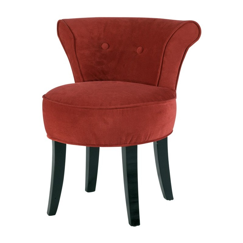 fauteuil tissu rouge. Black Bedroom Furniture Sets. Home Design Ideas