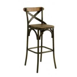 Chaise haute bois et fer - Motown Casita