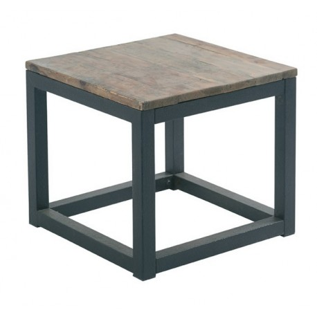 TABLE BASSE LOFT CROSS BOIS ET FER CARRE CASITA