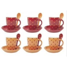 TASSE A EXPRESSO PUNTINI ROUGE ORANGE COTENTO