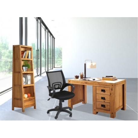 Ensemble bureau Lodge Casita + bibliothèque Lodge Casita + fauteuil de bureau New-York offert