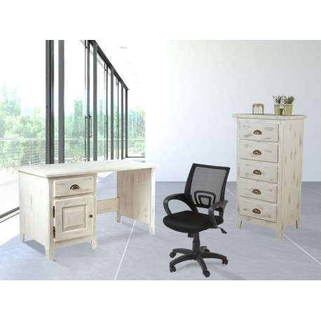 Ensemble bureau Solea Casita + commode Solea Casita + fauteuil de bureau New-York offert