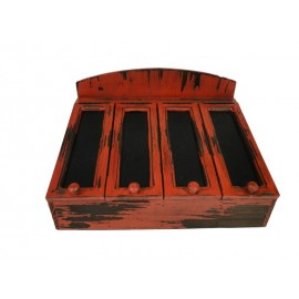 RANGE COUVERTS ROUGE ANTIQUE ANTIC LINE