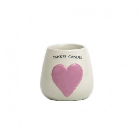 Photophore grand coeur rose-Yankee Candle