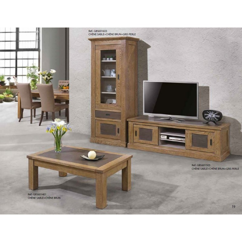 meuble tv 2 portes coulissantes 3 niches gbs1948 zagas. Black Bedroom Furniture Sets. Home Design Ideas
