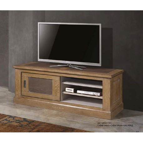 meuble tv 1 porte coulissante 3 niches gbs1948 zagas. Black Bedroom Furniture Sets. Home Design Ideas