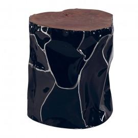 Tabouret alu peint noir - Essaouira Casita