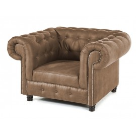 Fauteuil Chesterfield Milwaukee taupe