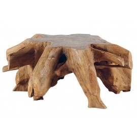 Table basse ronde racine de teck - Roots Casita