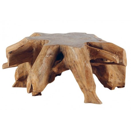 Table basse ronde racine de teck - Roots Casita