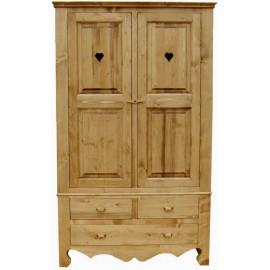 Armoire 2 portes 3 tiroirs - Coeur de montagne