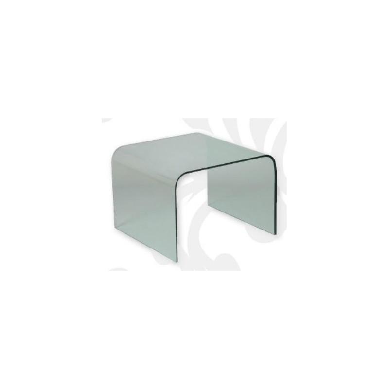 bout de canap en verre courb. Black Bedroom Furniture Sets. Home Design Ideas