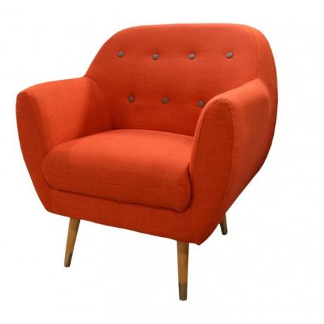 Fauteuil orange Grimsby - Sofacasa